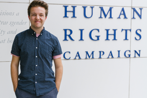 Reece at Human Rights Campaign headquarters
