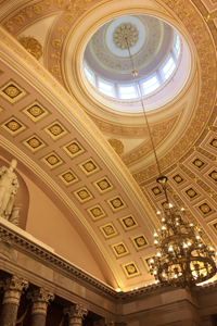 Ceiling of the US Capitol dome