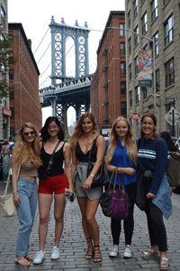 Verena with her friends in New York City
