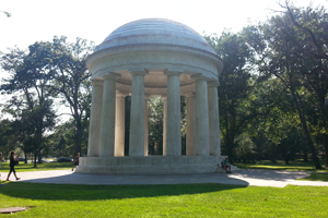World War I Memorial (a white marble gazebo)