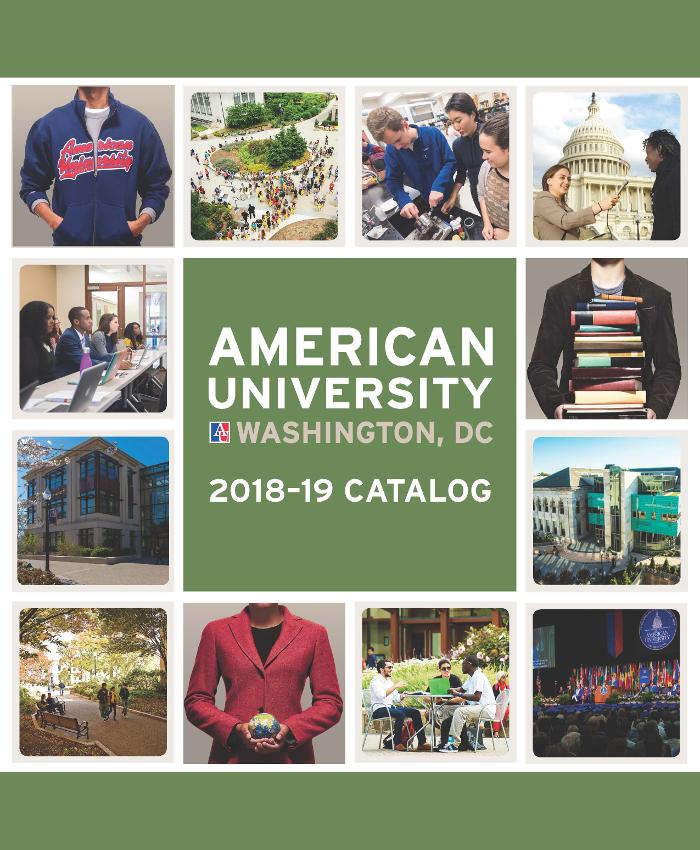 university catalog american university washington dc
