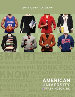 Cover image of 2015-2016 American University Catalog