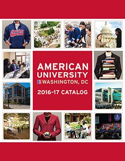 Cover image of 2016-2017 American University Catalog