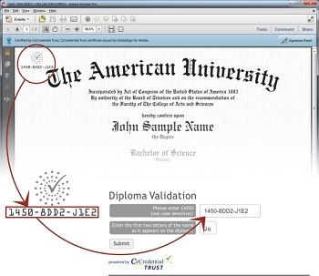 Sample Diploma Validation
