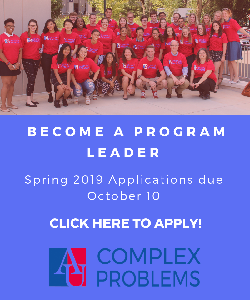Become a Program Leader. Spring 2019 Applications due October 10. Click Here to Apply