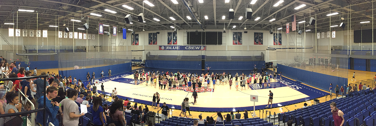 Arena view of Late Night at the Rec 2016