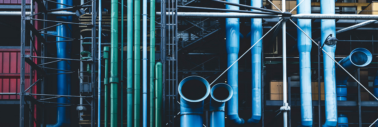 pipes in a factory