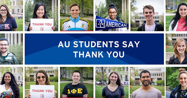 AU Students Say Thank You