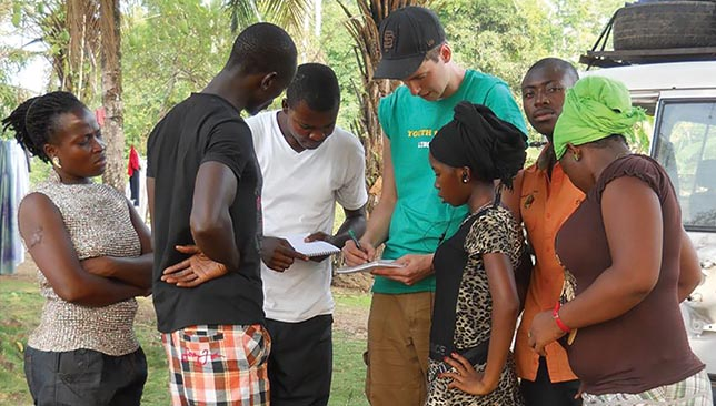 SIS students worked with clients from Search for Common Ground in Liberia