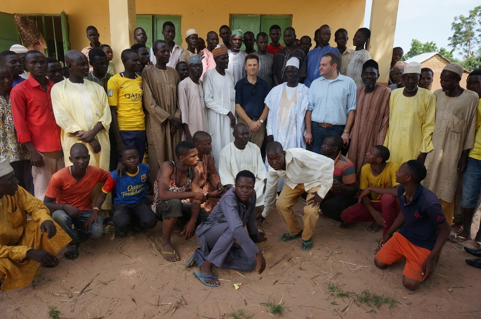 Professor Carl LeVan meeting with victims of Boko Haram