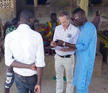 Jesse Ribot conducting field research in Senegal.