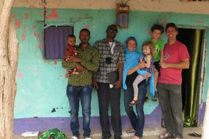 Lauren Carruth with her family and research team in Ethiopia.