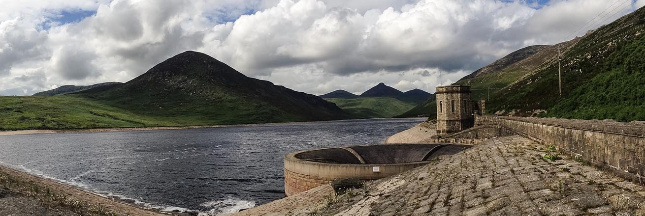 a reservoir that supplies most of the water for Belfast surrounded by green hills