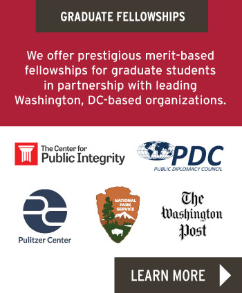 We offer prestigious merit-based fellowships for graduate students in partnership with leading Washington, DC-based organizations.