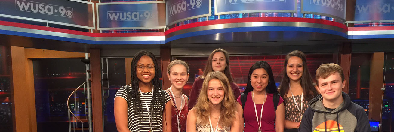 Students at WUSA9 studio