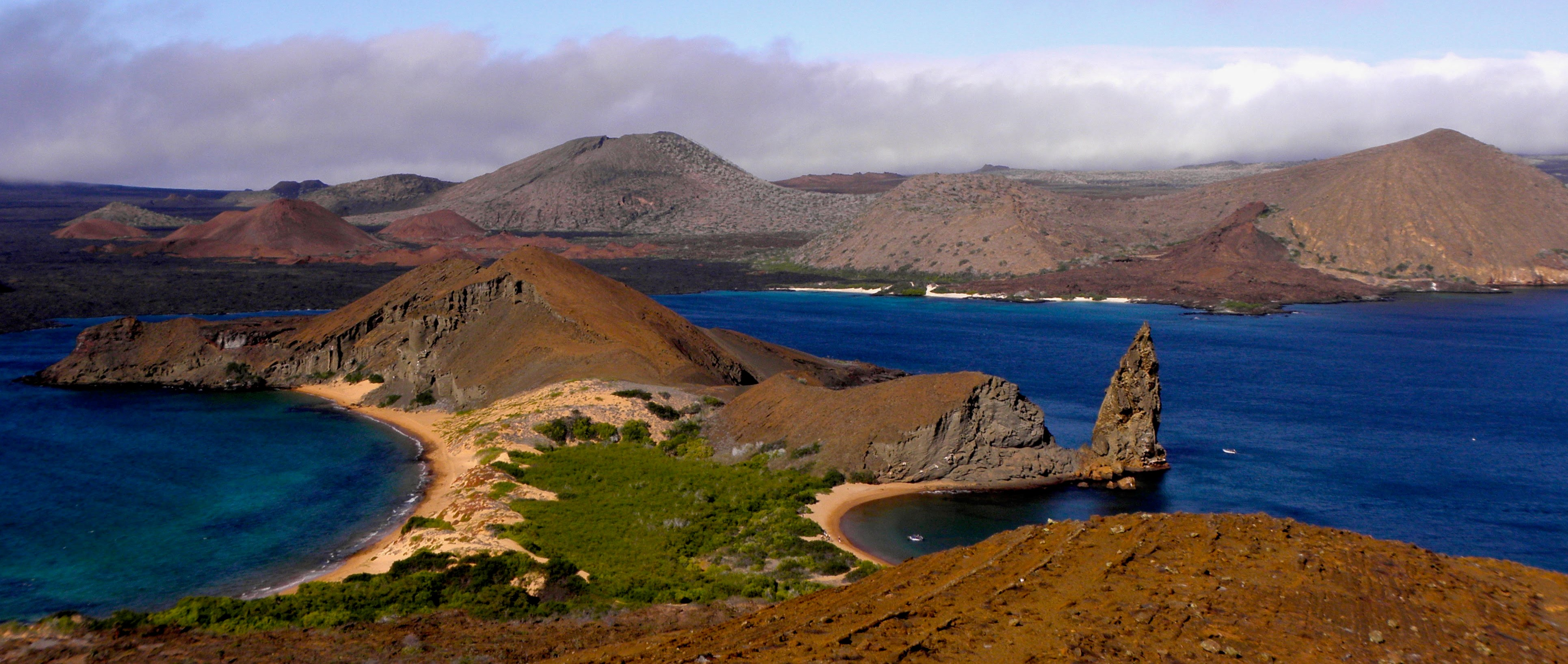 Galapagos Bay and Mountains