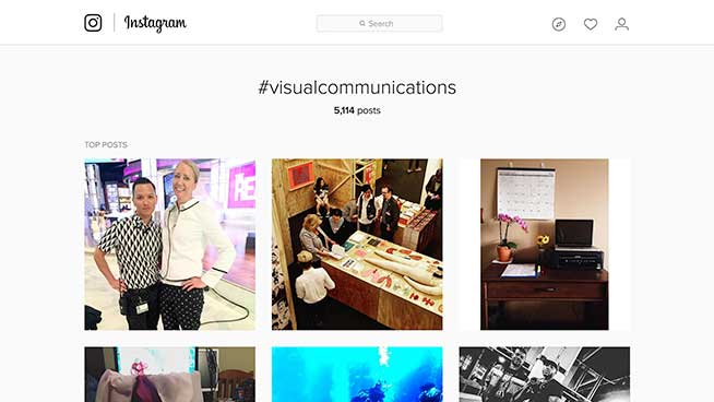 Instagram Visual Comm