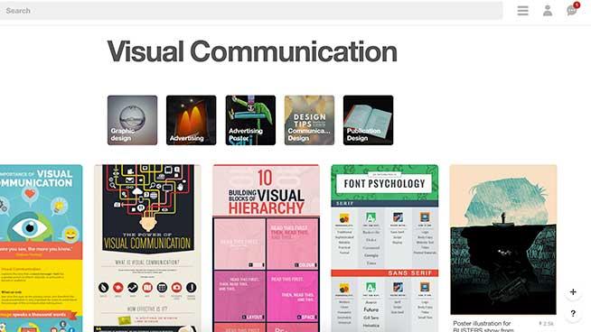 Pinterest Visual Comm