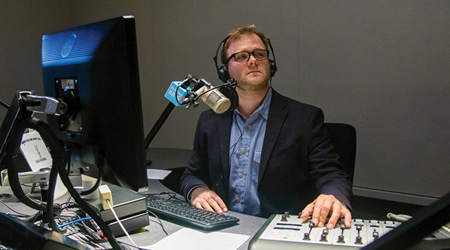 Patrick Madden broadcasting for WAMU 88.5