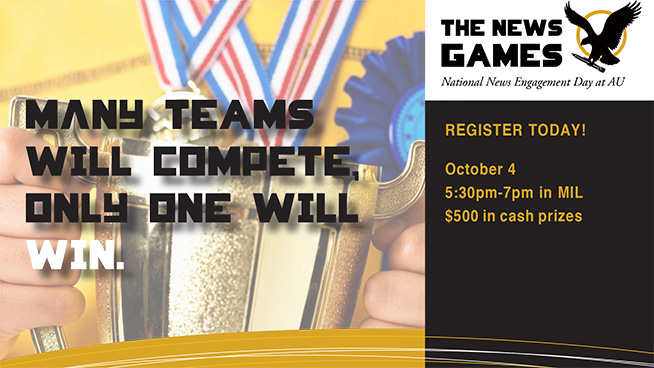 The News Games - REGISTER TODAY! October 4 7pm-9pm in MIL $500 in cash prizes