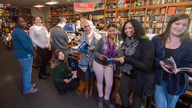 Students at Politics and Prose