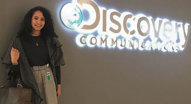 student interning at Discovery