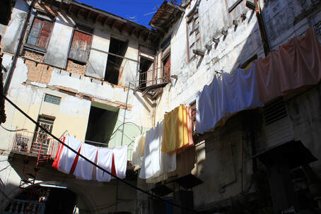 laundry hanging in Cuba