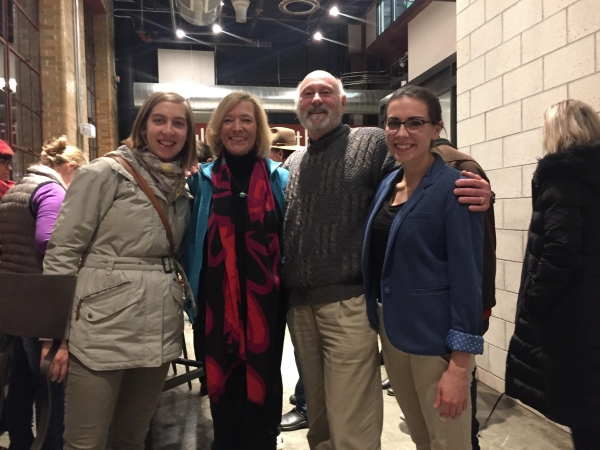The team at work-in-progress screening at Fresh Docs in Durham, (L to R) Elizabeth Herzfeldt-Kamprath, Maggie Stogner, Rick Stack, Mary Alice McMillan.