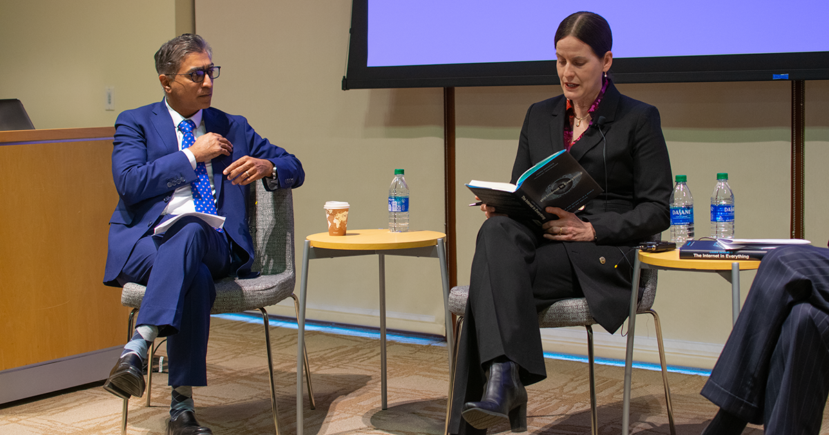 Anupam Chander and Laura DeNardis at The Internet in Everything book talk