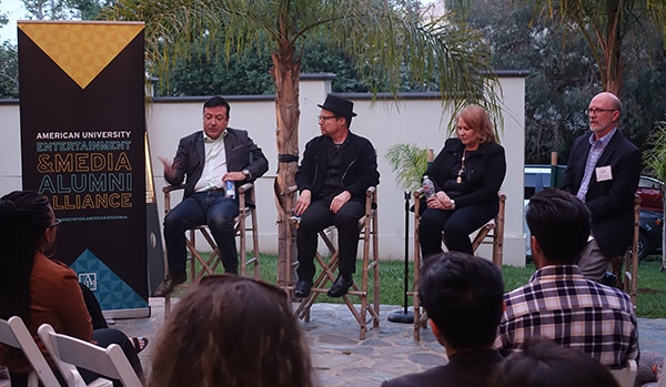 Entertainment Media Alumni Alliance panel discussion at the mansion.