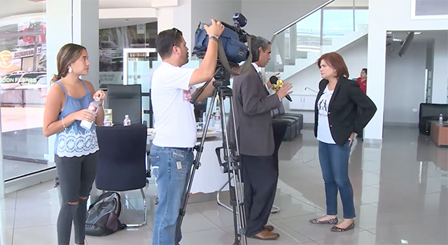 Behind the scenes with Aline Flores, president of the Honduras Business Council at the time.