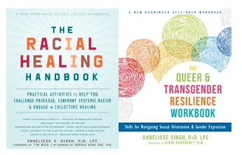 Racial-Healing-Handbook-and-Queer-and-Transgender-Resilience-Workbook-covers