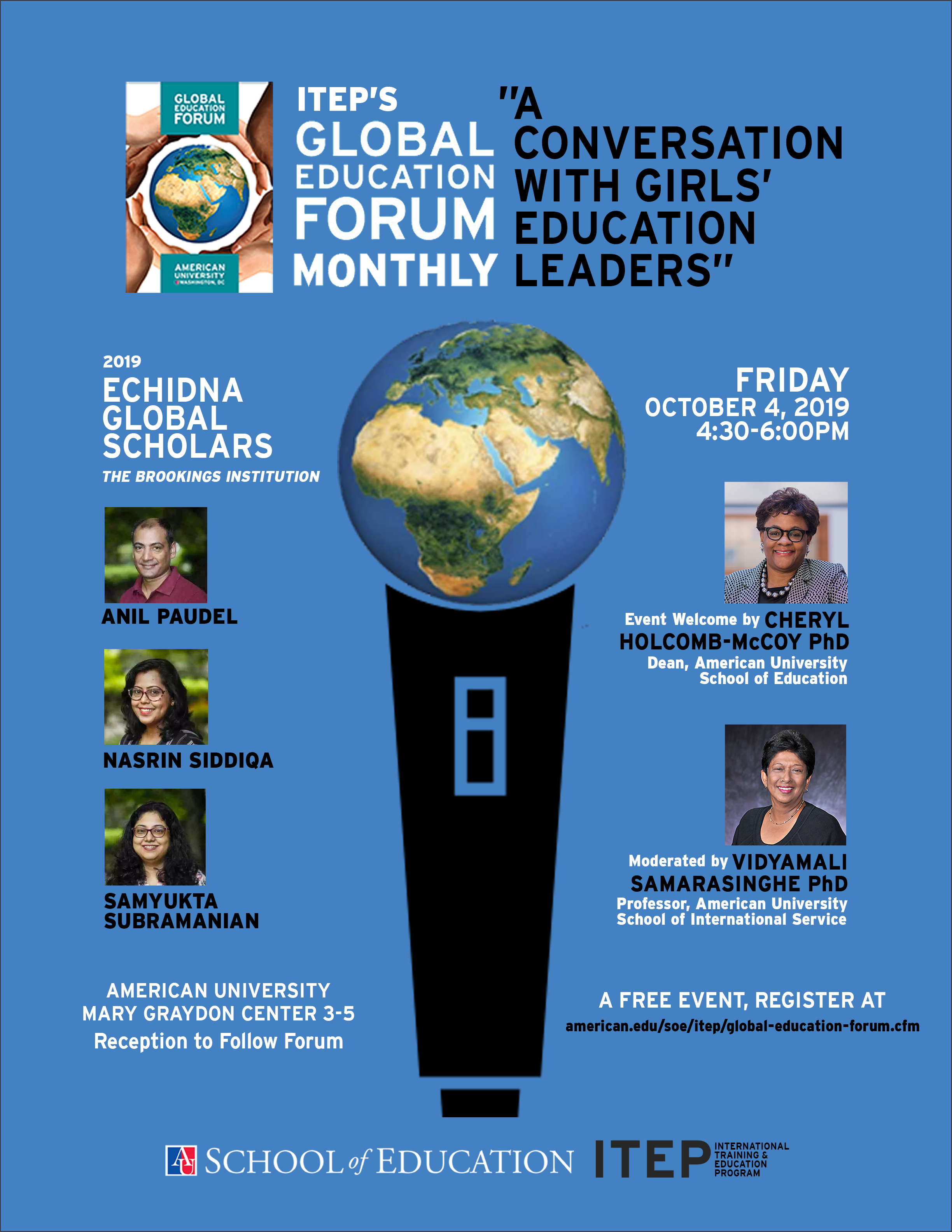 Global Education Forum Monthly October 4, 2019