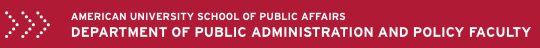 American University School of Public Affairs: Department of Public Administration and Policy Faculty