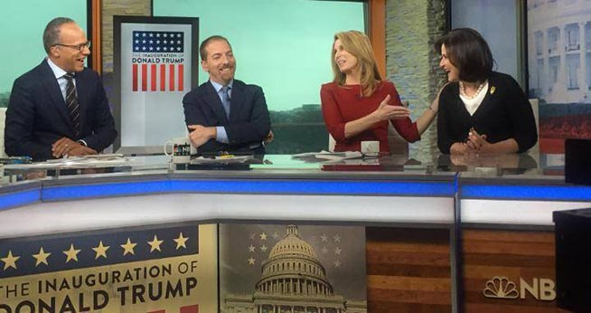 NBC News panel on Inauguration Day 2017