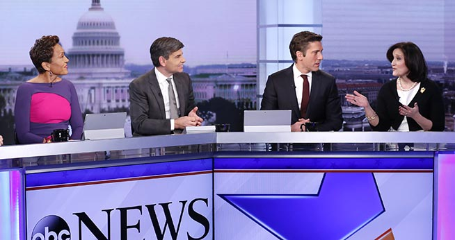 ABC News panel of four on Inauguration Day 2017.