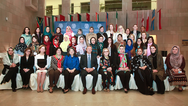 U.S.-Afghan Women's Council train women leaders in Doha
