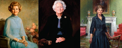 First Ladies Betty Ford Barbara Bush and Laura Bush