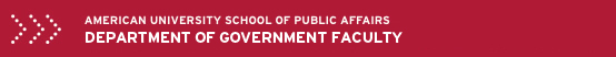 American University School of Public Affairs: Department of Government Faculty