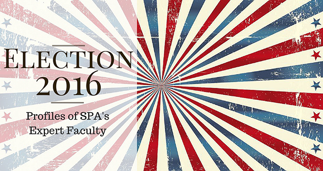 Vector with Overlay: Election 2016 - Profiles of SPA's Expert Faculty
