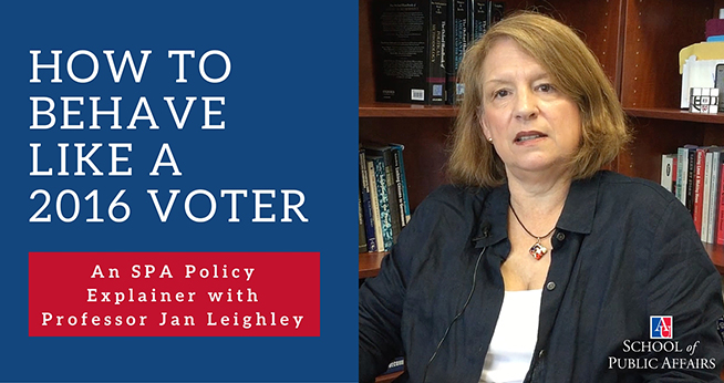 How to Behave Like a 2016 Voter: An SPA Policy Explainer with Jan Leighley