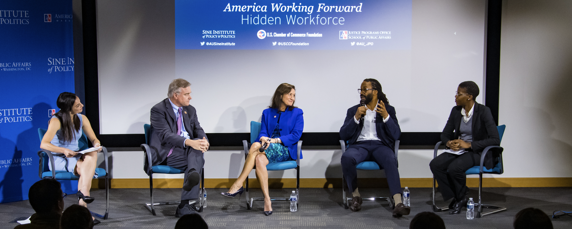 panel of speakers at America Working Forward