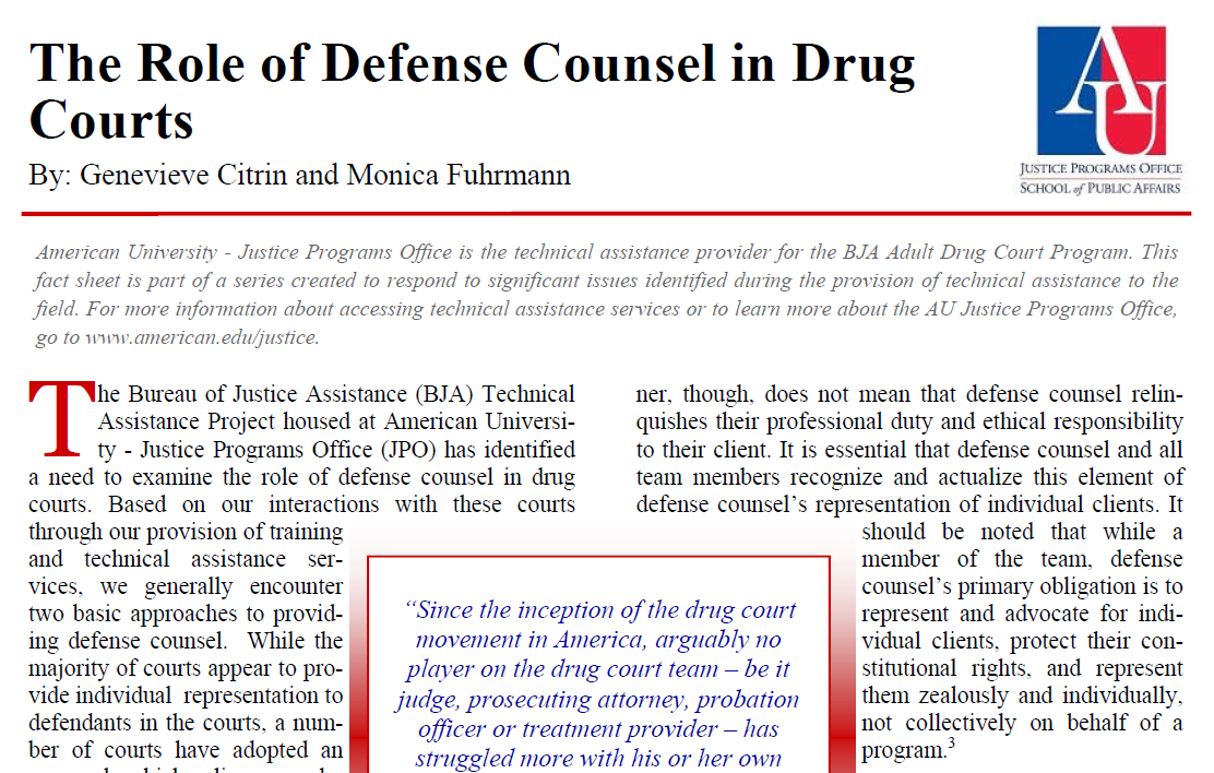 Defense Counsel Fact Sheet
