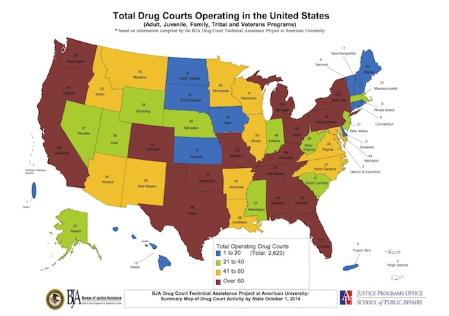 Total US Drug Court Map