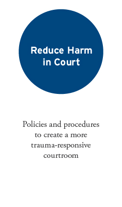 Reduce Harm In Court: Policies and procedures to create a more trauma-responsive courtroom