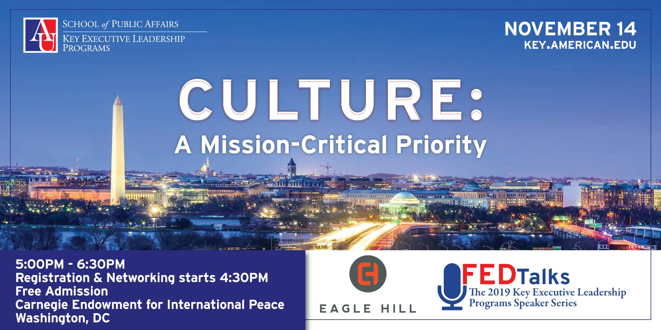 Culture: A Mission-Critical Priority FEDTalks with Eagle Hill Consulting from November 2019