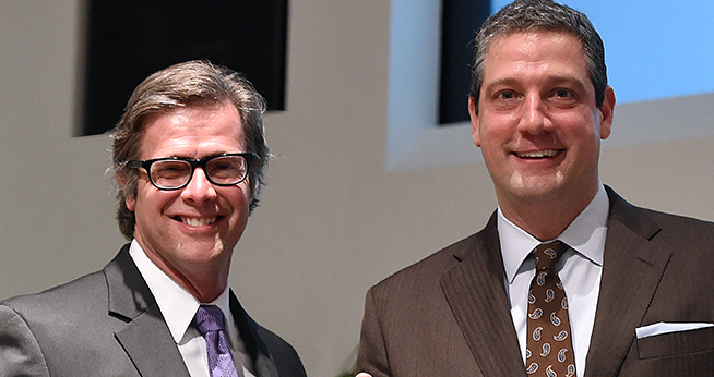 From left to right: Patrick Malone and Congressman Tim Ryan