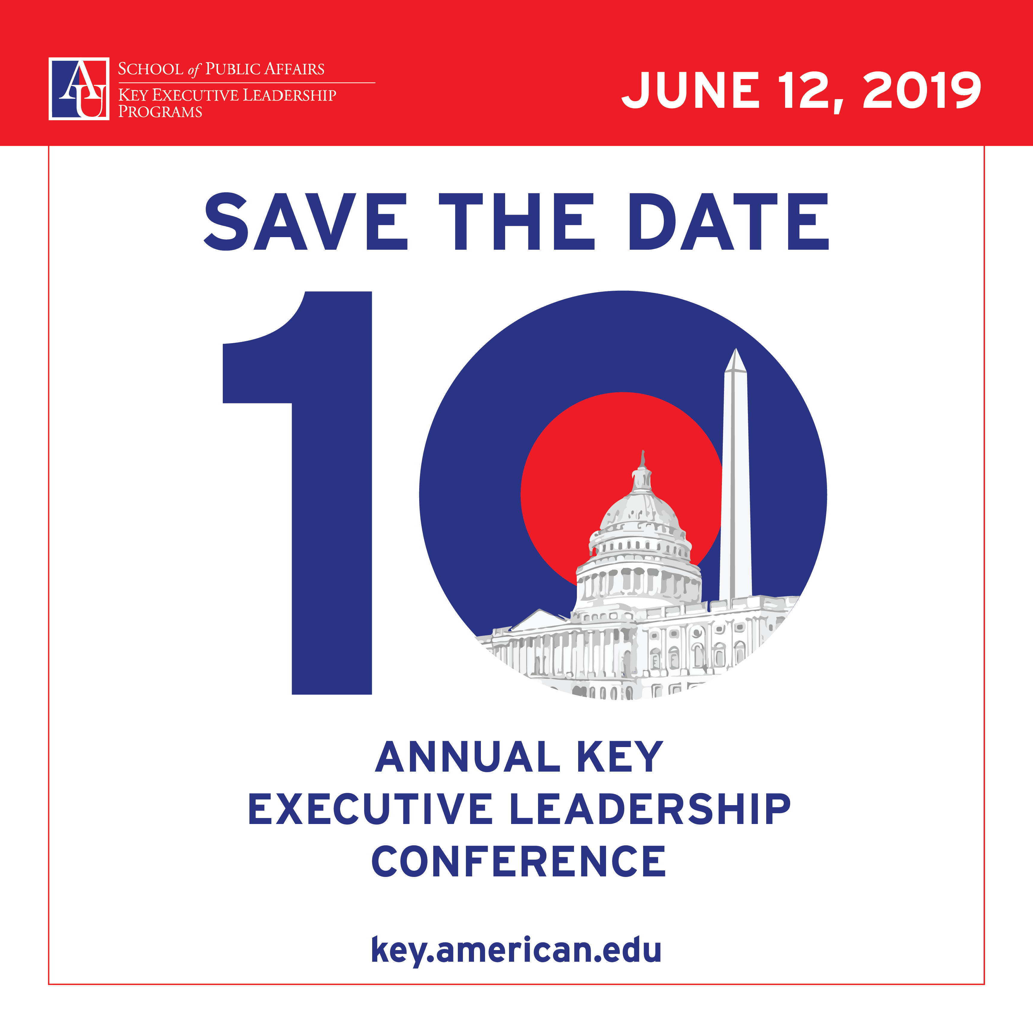 Save the Date for the 10th Annual Key Executive Leadership Conference on Wednesday June 12, 2019