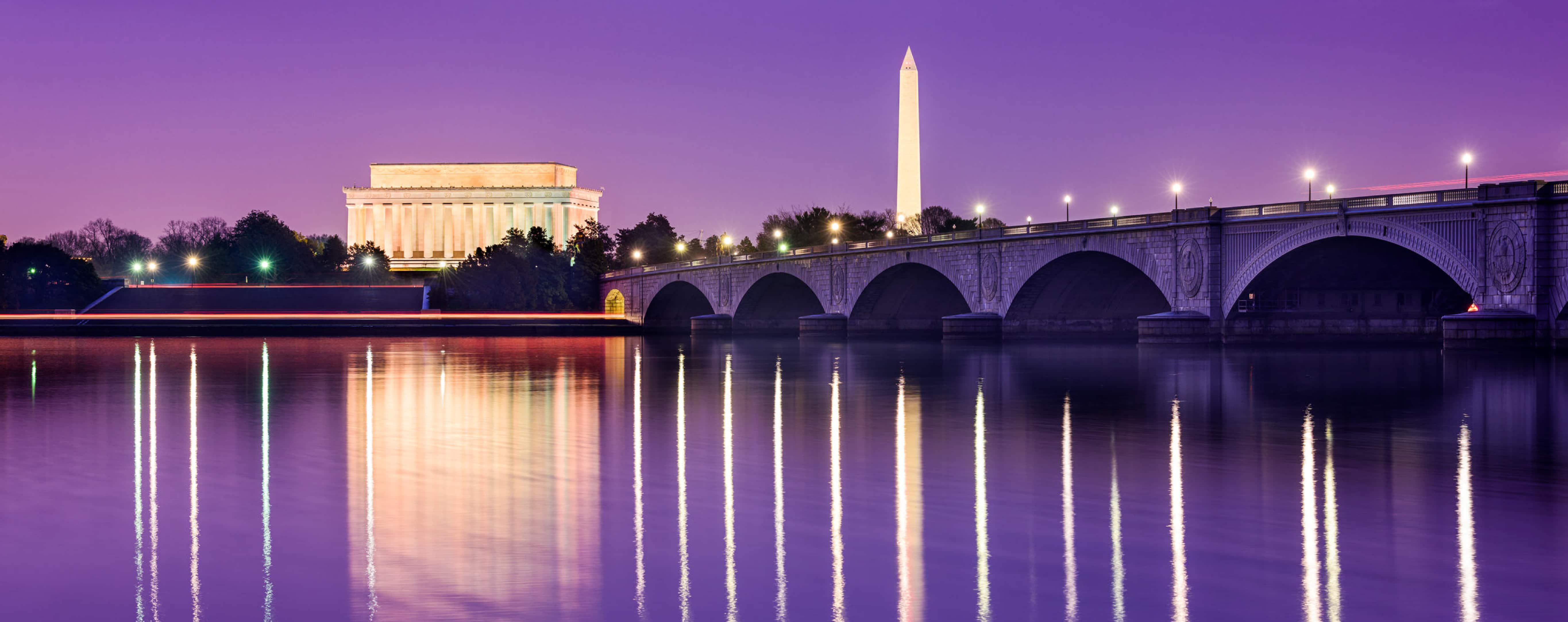 Capitol Building in a purple sunset