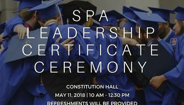 SPA Leadership Certificate Ceremony